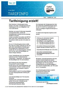 Tarinfo 2 Tarifrunde TSG 2016
