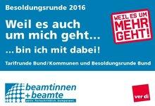Postkarte Besoldungsrunde Bund 2016 - Motivseite