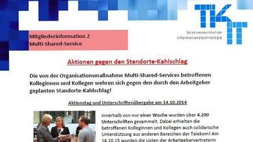 Beschäftigeninfo 2 Multi-Shared-Services Telekom - Teaser