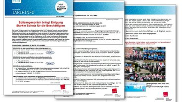 Tarifinfo 11 Tarifrunde T-Systems 2016  - Einigung