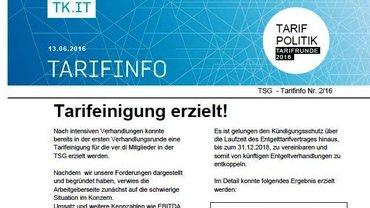 Tarifinfo 2 Tarifrunde TSG 2016 - Teaser