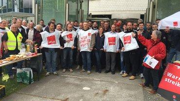Warnstreik T-Systems Bielefeld 18.05.2016