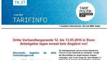Tarifinfo 6 Tarifrunde T-Systems - Teaser