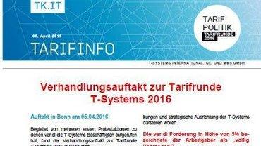 Tarifinfo 3 - Tarifrunde T-Systems 2016 - Teaser