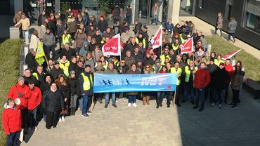 Warnstreik Kundenservice Kundenservice Telekom Düsseldorf 14.03.2016