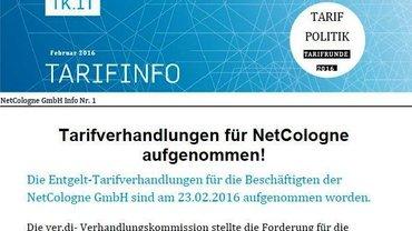 Tarifinfo 1 Netcologne - Teaser