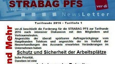 Tarifinfo 1 - STRABAG PFS - Tarifrunde 2016 - Teaser