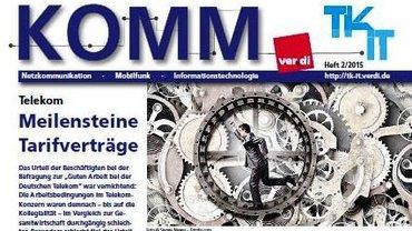 KOMM Ausgabe 02/2015 Titelseite - Teaser
