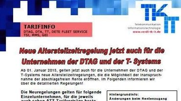 Tarifinfo ATZ Telekom AG / T-Systems - Teaser