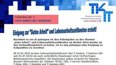 Tarifinfo 9 Gute Arbeit Telekom  - Teaser