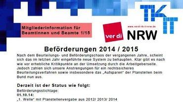 BeamtInnen-Info ver.di LFB 9 NRW 01/2015 - Teaser