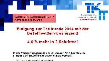 Tarifinfo Abschluss DeTeFlettServices 2014 - Teaser