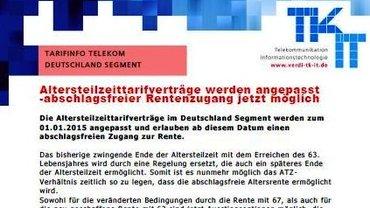 Tarifinfo ATZ Deutschland-Segment - Teaser