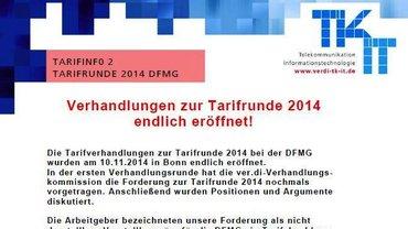 Tarifinfo 2 Tarifrunde 2014 DFMG