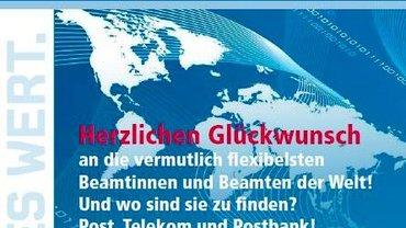 Plakat Postpersonalrechtsgesetz - Teaser