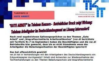 Tarifinfo 8 Gute Arbeit Telekom - Kopf - Teaser