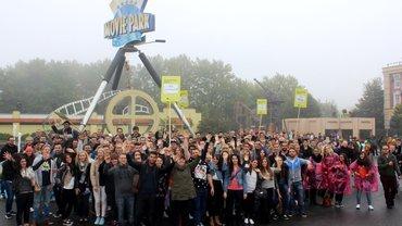 Neue ver.di-Mitglieder zur Begrüßung im Movie Park