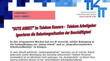 Tarifinfo 7 Gute Arbeit im Telekom-Konzern - Seite 1 - Kopf