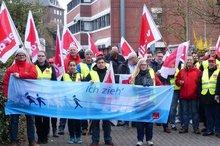 Warnstreik Telekom Recklinghausen 7.4.2016