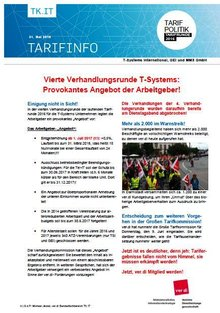 Tarifinfo 8 - Tarifrunde T-Systems 2016