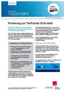Tarifinfo Forderung Telekom 2016 - Seite 1