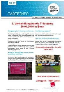 Tarifinfo 4 Tarifrunde T-Systems 2016