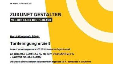 Tarifinfo Einigung Kabel Deutschland - Kopf