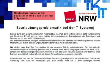 Info LFB 9 NRW Beurlaubung Beamte T-Systems - Kopf
