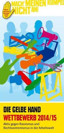 Flyer Wettbewerb die gelbe Hand 2014/2015