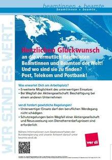 Plakat Postpersonalrechtsgesetz