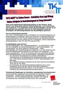 Tarifinfo 8 - Gute Arbeit Telekom