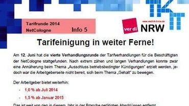 Tarifinfo NetCologne 5/2014 - Kopf
