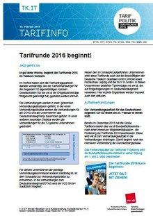 Tarifinfo 3 Tarifrunde Telekom 2016