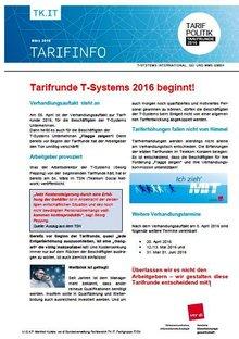 Tarifinfo 2 Tarifrunde T-Systems 2016