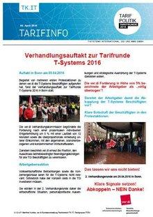 Tarifinfo 3 - Tarifrunde T-Systems 2016