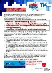 Tarifinfo TSG 1-2014