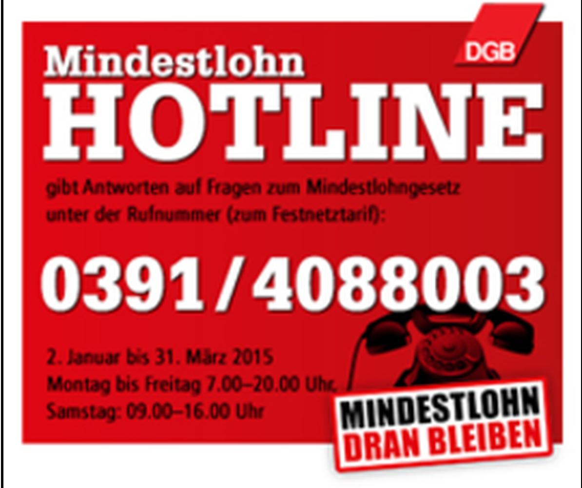 Mindestlohn Hotline