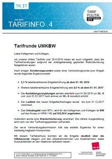 Tarifinfo 4 Tarifrunde Unitymedia 2016 - Seite 1
