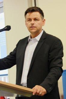 Klaus Weber in der Beamtenpolitischen Konferenz ver.di TK/IT/DV NRW