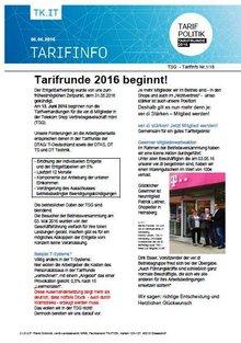 Tarifinfo 1 Tarifrunde TSG 2016