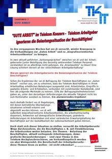 Tarifinfo 7 Gute Arbeit im Telekom-Konzern - Seite 1