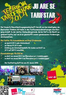 Flyer zum Tarifergebnis Telekom - Wirkung für Jugendliche