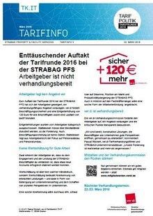 Tarifinfo 3 Tarifrunde 2016 STRABAG PFS