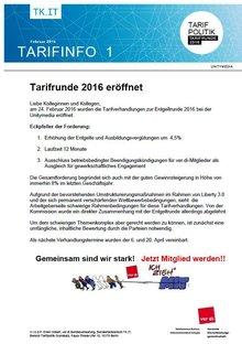 Tarifinfo 1 - Unitymedia 2016