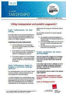 Tarifinfo 9 Tarifrunde T-Systems 2016
