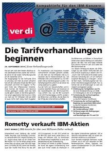 ver.di@IBM - Die Tarifverhandlungen beginnen - Seite 1 von 2