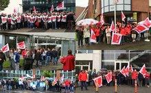 Aktionen gegen Standortkahlschlag am 14.10.2015 in NRW
