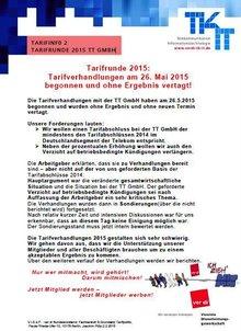 Tarifinfo 2 Tarifrunde 2015 Telekom Training GmbH