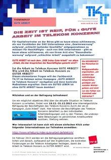 Tarifinfo 1 Gute Arbeit - Seite 1