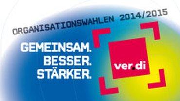 Logo ver.di Organwahlen 2014